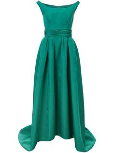 асимметричное вечернее платье с открытыми плечами Carolina Herrera