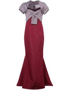 платье с контрастным топом Carolina Herrera