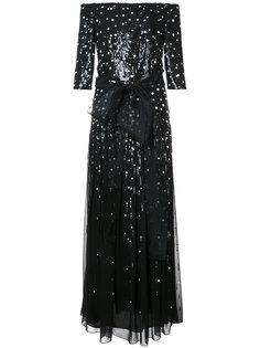 платье с пайетками Pailette Carolina Herrera