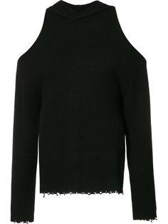 свитер с капюшоном с открытыми плечами Rta