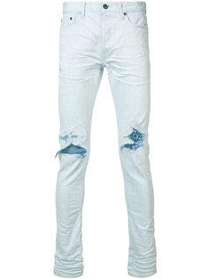 джинсы кроя скинни с потертой отделкой John Elliott