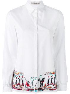 рубашка с вышивкой Etro