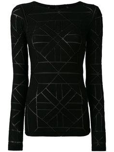 свитер с прозрачными вставками Gareth Pugh