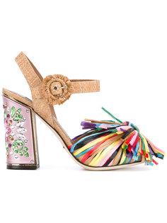босоножки с отделкой бахромой Dolce & Gabbana