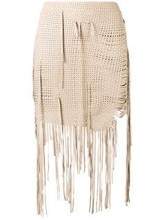 юбка с длинной бахромой Magda Butrym