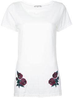 удлиненная футболка с цветочной вышивкой Maison Mihara Yasuhiro