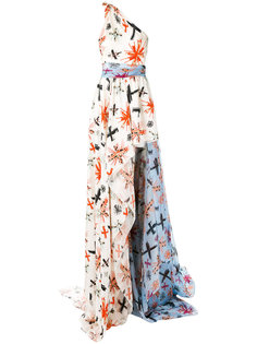 расклешенное длинное платье  Fausto Puglisi