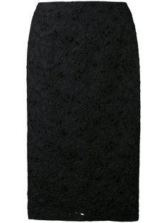 вышитая юбка-карандаш Vivetta
