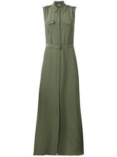 платье-рубашка с поясом Equipment