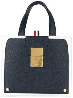 двухцветная сумка-тоут Thom Browne