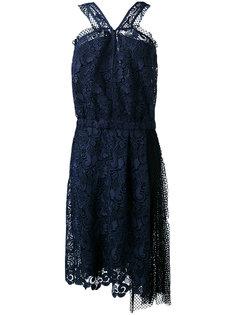 кружевное платье без рукавов  Nº21