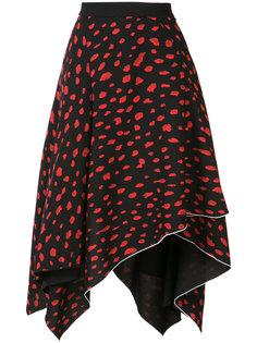 асимметричная юбка с леопардовым принтом Proenza Schouler