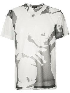футболка с размытым принтом Comme Des Garçons Homme Plus