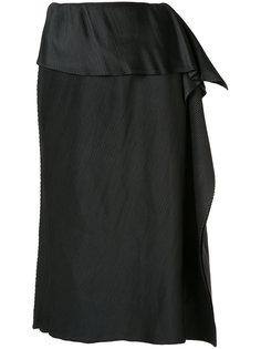 плиссированная юбка с драпировкой Issey Miyake