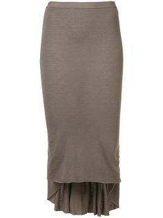 юбка с плиссированной панелью Rick Owens Lilies