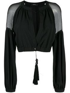 укороченный пиджак с прозрачными панелями Wandering