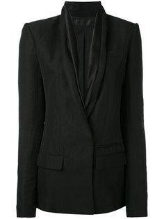 пиджак с лацканами-шалькой  Haider Ackermann