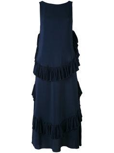 платье макси с оборкой  Nº21