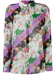 полосатая рубашка с цветочным принтом Brognano