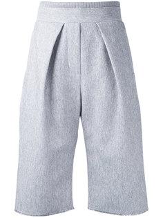 зауженные шорты со складками Steven Tai
