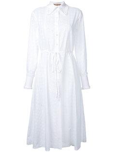 платье-рубашка с эластичным поясом Flow The Label