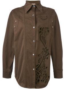 куртка-рубашка с вырезными деталями Nº21
