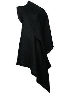 платье с открытым плечом  Yohji Yamamoto