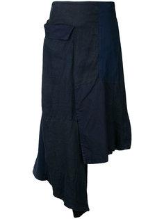 юбка со вставкой  Yohji Yamamoto