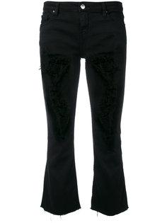 рваные укороченные джинсы с расклешенными голенищами Iro