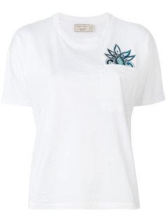 футболка с вышивкой пейсли Maison Kitsuné
