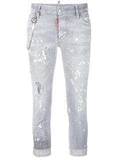 джинсы с потертой отделкой Glam Head Dsquared2