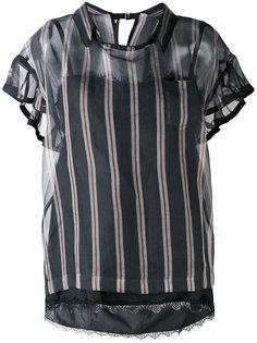 полосатая блузка Sacai