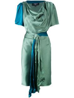 атласное платье с короткими рукавами  Paule Ka