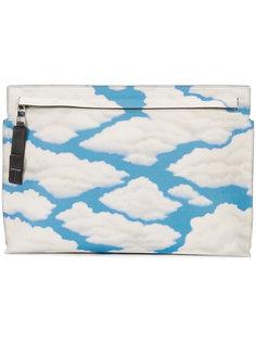 клатч с принтом в виде облаков Loewe