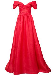 платье с заниженной линией плеч Marchesa
