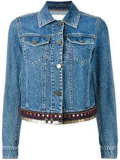 джинсовая куртка с отделкой  Bazar Deluxe