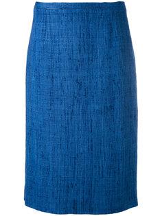 твидовая юбка прямого кроя Kiton