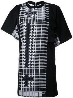 асимметричное платье шифт Sacai
