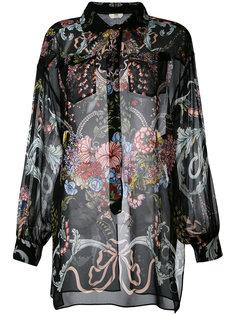 рубашка с цветочным принтом Fendi
