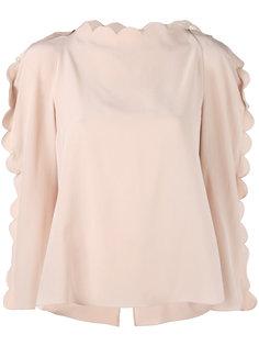блузка с волнистой отделкой Fendi