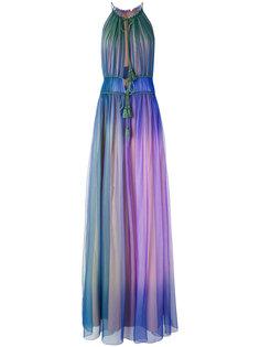 длинное платье шифт с эффектом градиент Alberta Ferretti