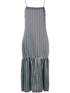 полосатое платье на тонких лямках-спагетти Elizabeth And James