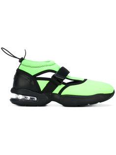 кроссовки с ремешками крест-накрест  MSGM