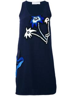 платье с цветочной вышивкой  Victoria Victoria Beckham