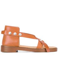 сандалии с заклепками Mm6 Maison Margiela