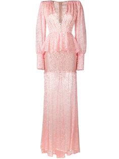 прозрачное кружевное платье Alessandra Rich