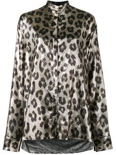 блуза с леопардовым узором и металлическим отблеском Haider Ackermann