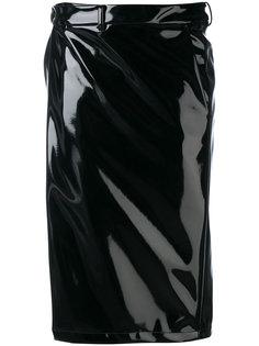 лакированная юбка-карандаш A.F.Vandevorst