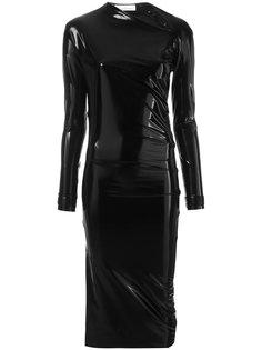 облегающее лакированное платье A.F.Vandevorst