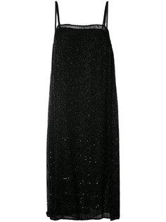 шифоновое платье-комбинация с бусинами Ashish